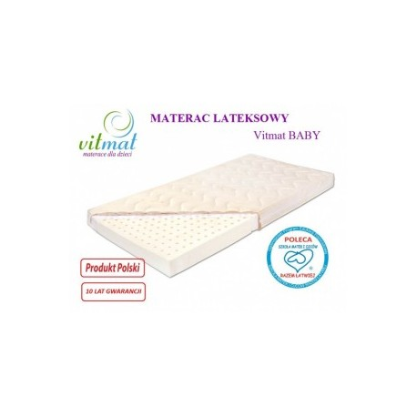 Materac lateksowy VITMAT Baby Antyalergic 120/60/9 - 239,00 zł