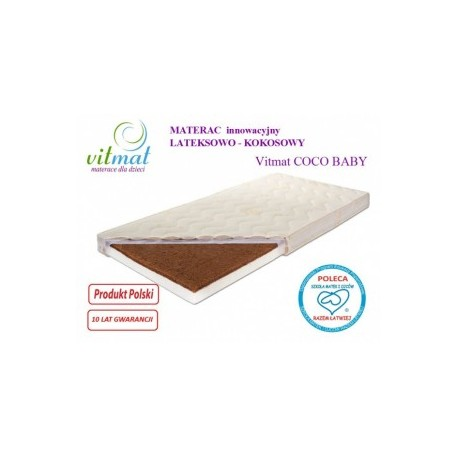Materac lateksowo-kokosowy VITMAT COCOBaby 140/7089 - 269,00 zł