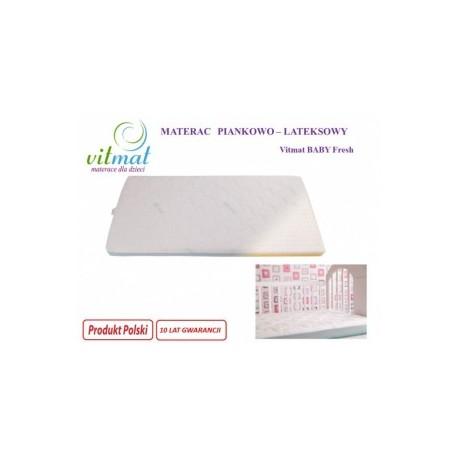 Materac piankowo-lateksowy VITMAT Baby 120/60/9 - 219,00 zł