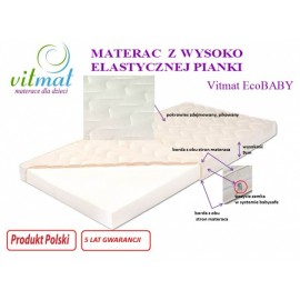 Materac piankowy ECOBaby 140/70