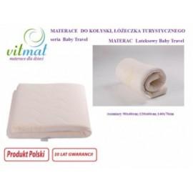 Materac lateksowy Vitmat Baby Travel 140x70x5cm