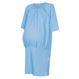 Koszula ciążowo-porodowa blekit