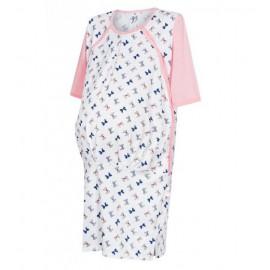 Koszula ciążowo-porodowa kokardki