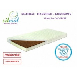 Materac piankowo-kokosowy ECO CocoBaby 140/70/9