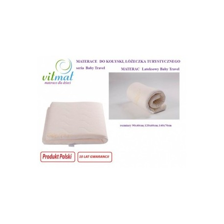 Materac lateksowy Baby Travel 90/40/5 cm