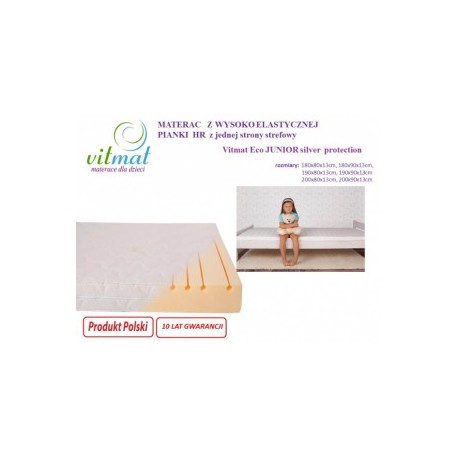 Materac piankowy Silver Protection Junior 90/200