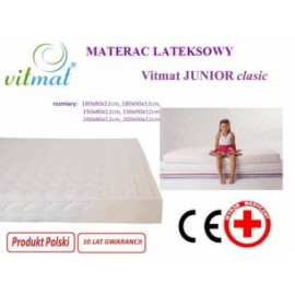 Materac lateksowy VITMAT Junior 160x90x12cm
